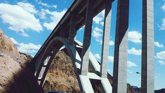 Low Angle View Of Mike Ocallaghan Pat Tillman Memorial Bridge Against Sky