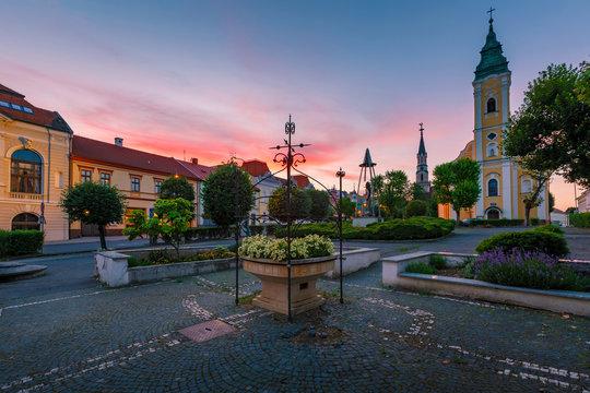 Town of Lucenec, Slovakia.