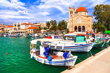 pictorial idyllic greek islands - Aegina , Saronic Gulf, Greece