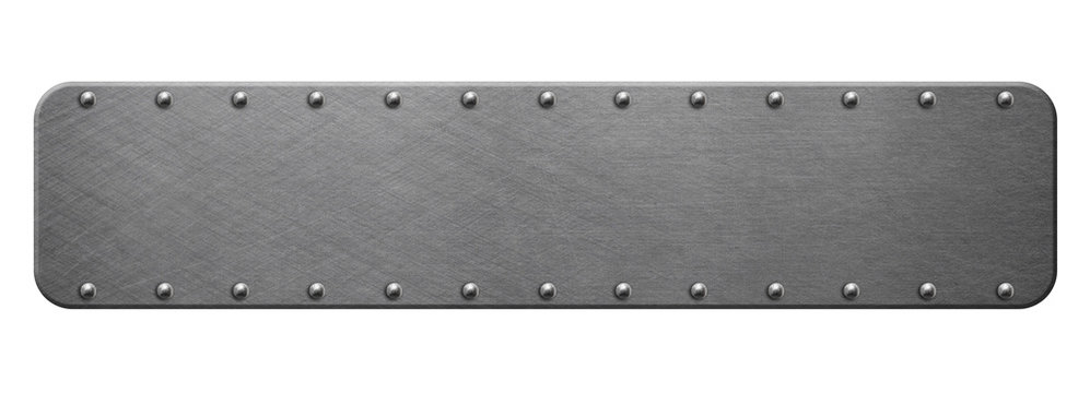 Steainless steel plate isolated on white background