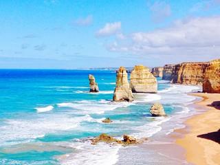 Large Rocks In Calm Blue Sea