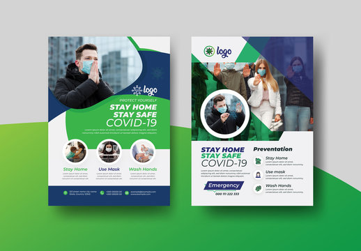 COVID-19 Health Awareness Flyer Layout Pack