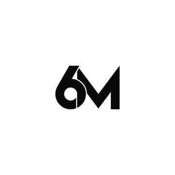 6m letter original monogram logo design