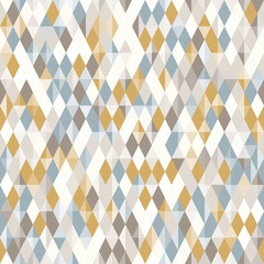 Abstract geo pattern, seamless vector, diamond shapes
