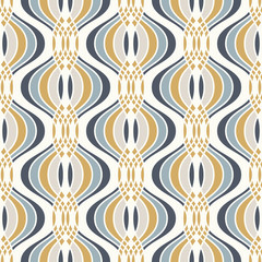 Ogee seamless vector curved pattern, abstract geometric background