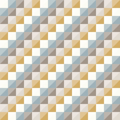 Abstract geo pattern, seamless vector, diagonal checkered diamond shapes