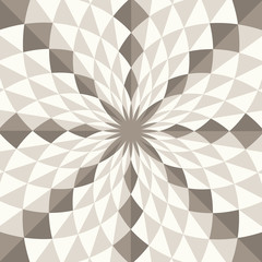 Abstract geo vector pattern, diamond shapes in vortex