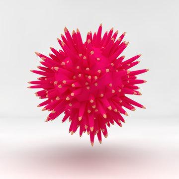 abstract virus, seed, illustration