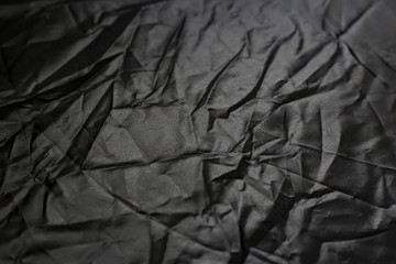 Keuken foto achterwand Texturen Crumpled black texture, crumpled black fabric, abstract background