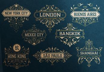 Set of 16 Vintage Logos