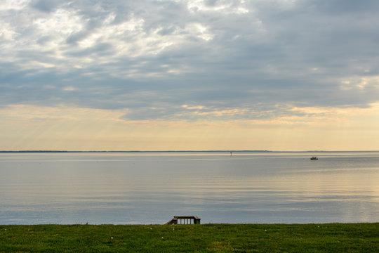 Beautiful sunrise over the Chesapeake Bay