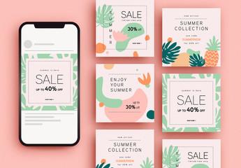 Summer Sale Social Media Post Layouts