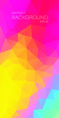Vertical abstract multicolor triangle background for you design