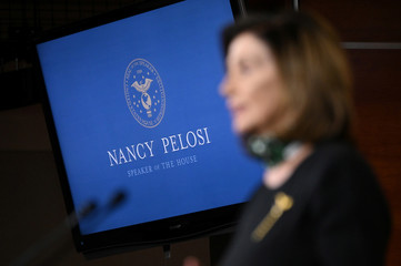 House Speaker Pelosi holds her weekly news conference with Capitol Hill reporters in Washington