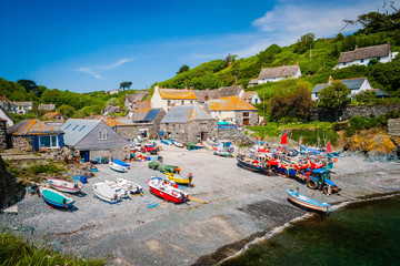 Small harbour of Cadgwith in Cornwall, UK