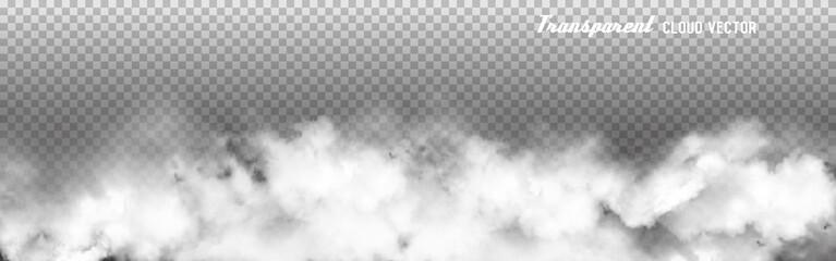 Transparent Clouds panorama. Vector illustration