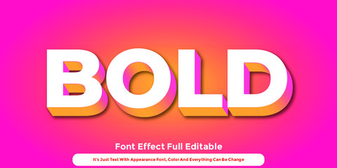 Abstract 3D Text Graphic Style Design