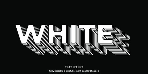 Perfect White Font Type Vector