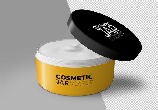 Open Cosmetic Jar Mockup