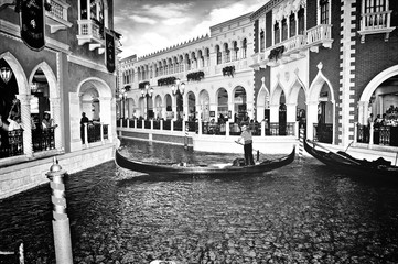 View Of Gondola In Canal