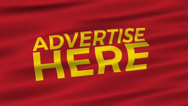 Advertise Here Sign Flag