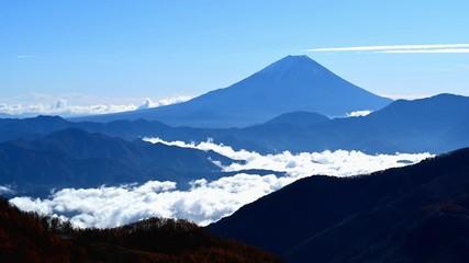 Wall Mural - 雲海と富士山