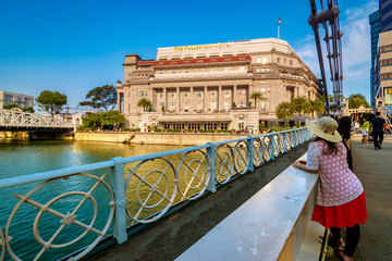The magnificent Fullerton Building is a grand neoclassical landmark built in 1928.