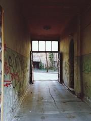 Passage Between Graffiti Walls