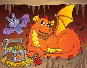 Poster Enfants Lying dragon theme image 4