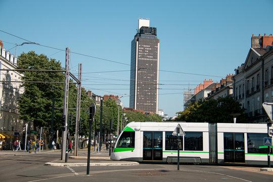 Nantes France, Tramway in Nantes