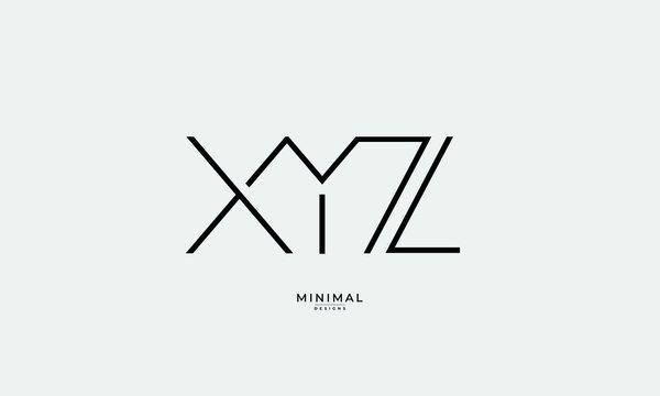 Alphabet letter monogram icon logo XYZ