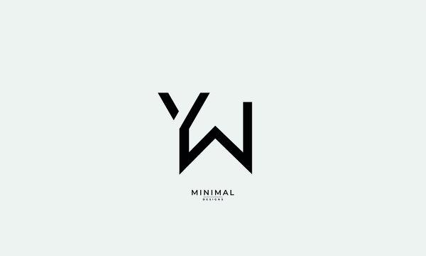 Alphabet letter monogram icon logo YW