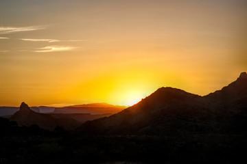 Printed roller blinds Sunset Sunset in the desert