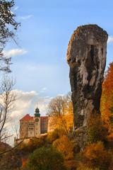 Fototapeta PIESKOWA SKALA, POLAND - OCTOBER 15: Old castle in Pieskowa Skala on October 15, 2013. Pieskowa Skala is located just few kilometer from Krakow - the former capital of Poland. obraz