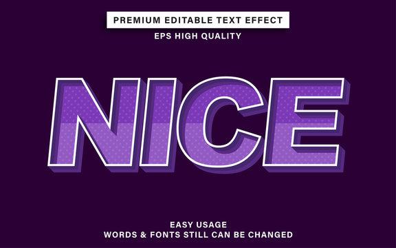 editable text effect - nice