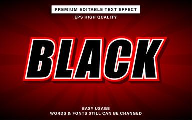 Wall Mural - editable text effect - black