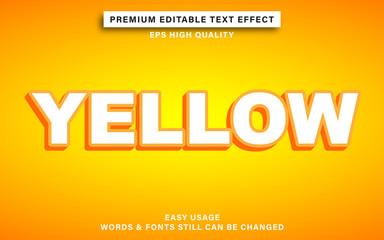 Wall Mural - editable text effect - yellow