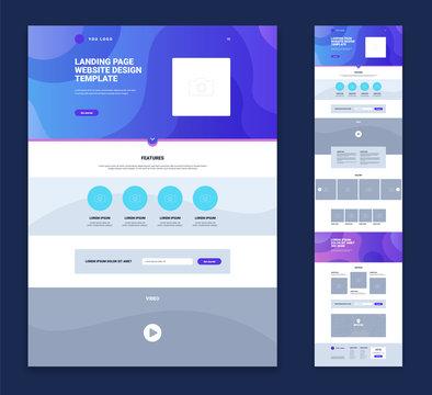 Landing Page Website Design Template Set