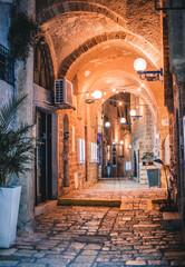 Deurstickers Marokko The streets of the ancient city of Jaffa