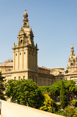 National Museum in Barcelona, on Montjuic hill