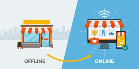 Retail offline to online