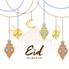 Eid Mubarak Celebration Islamic Background