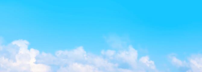 Foto auf AluDibond Blau Blue sky and clouds 青空と雲
