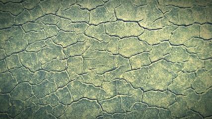 Foto auf Gartenposter Olivgrun Full Frame Shot Of Cracked Landscape