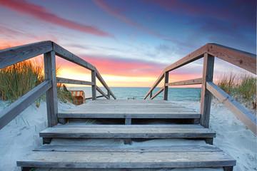 Treppe zum Meer