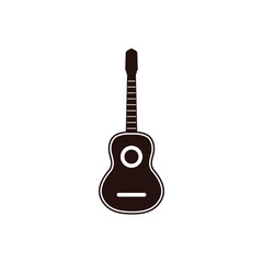 Guitar graphic design template vector isolated