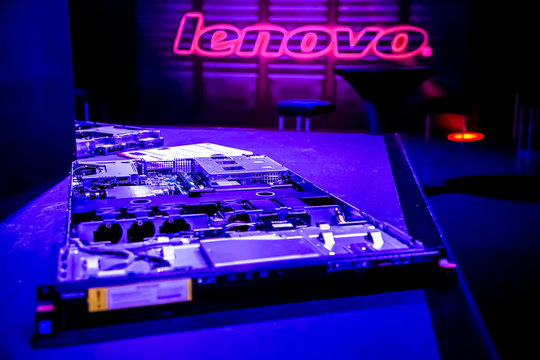 Johannesburg, South Africa - May 7, 2015: Inside Interior of a Lenovo ThinkServer media launch event