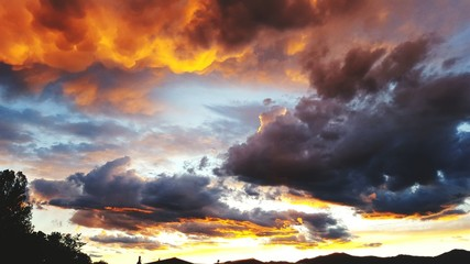 Low Angle View Of Dramatic Sky - fototapety na wymiar