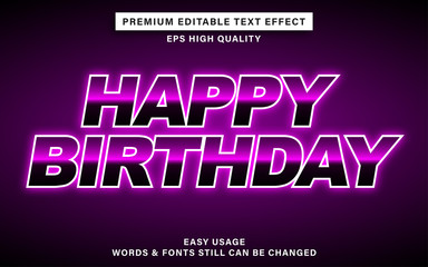 Wall Mural - happy birthday text effect