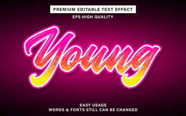 Wall Mural - young text effect
